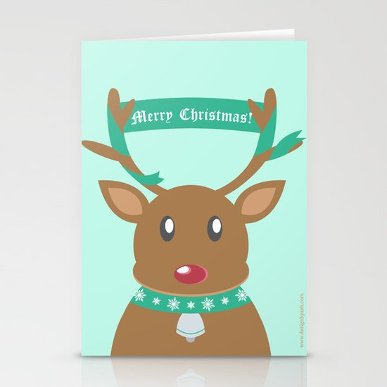 Christmas Reindeer Stationery Cards