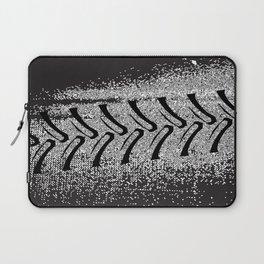 Black Grunge Farm Vehicle Tyre Tracks Laptop Sleeve