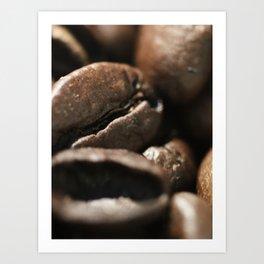 Coffee beans macro photo - fine art - still life - interior decoration, for bar & restaurant, n° 2 Art Print