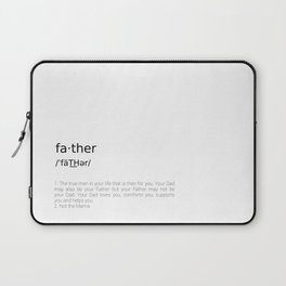 Father #minimalism Laptop Sleeve