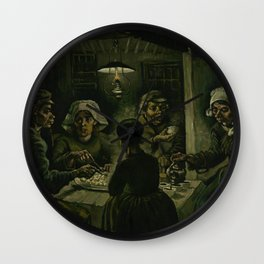 The Potato Eaters by Vincent van Gogh Wall Clock