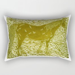 Abstract Silver Rectangular Pillow