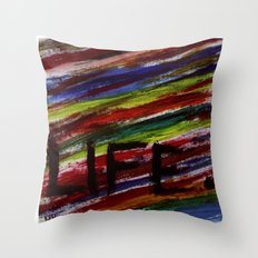 Life by KPD (Stretched) Throw Pillow