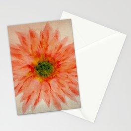 salmon flower Stationery Cards