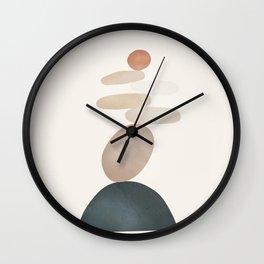 Balancing Stones 24 Wall Clock