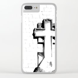 CROSS - Bl & Wh Clear iPhone Case