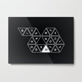 Unrolled D20 #2 Metal Print