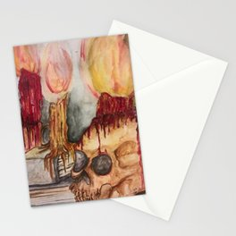 Gothic Library Stationery Cards