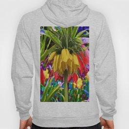 FANTASY ART YELLOW CROWN IMPERIAL FLOWERS Hoody