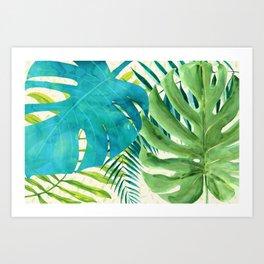 Rainforest Canopy Tropical Leaves Art Print