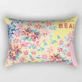 Imperfection is BEAUTIFUL (Yellow) Rectangular Pillow