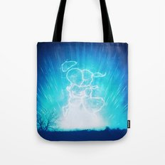 Cosmo + Celeste ( Colorful Cosmological Night Sky Couple in Love ) Tote Bag