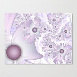 Flourish, Soft Fantasy Flowers Fractal Art Canvas Print
