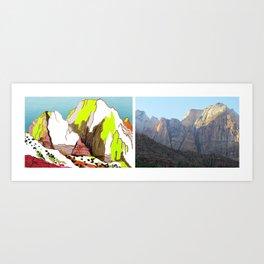Zion Mountains Art Print