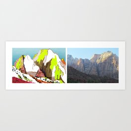Zion Mountains Art Print