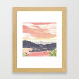 At the end of Summer | Miharu Shirahata Framed Art Print