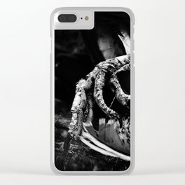 Flipping The Bird. Clear iPhone Case