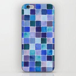 Blue Squares iPhone Skin