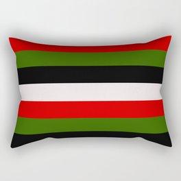 Four Tone Stripes - Christmas Rectangular Pillow