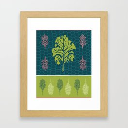 Tropical Paleo – Kale in Lime Framed Art Print