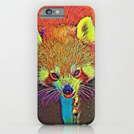 AnimalColor_RedPanda_002_by_JAMColors iPhone Case