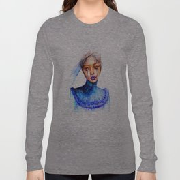 Lady Crying Long Sleeve T-shirt