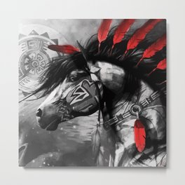 Native American Horse Spirit Metal Print