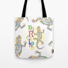 Barcelona City Lizard Tote Bag