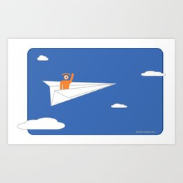 fly away! Art Print
