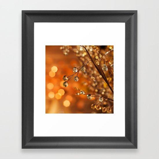 Sparkles in Gold Framed Art Print