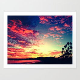 Santa Barbara Califronia Sunset Art Print