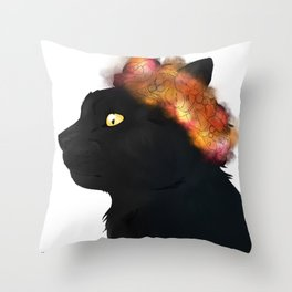 Prince of Leaves Throw Pillow