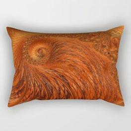 Orange Lily Fractal Rectangular Pillow