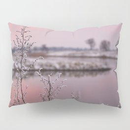 Winter Sunset At River Bank Pillow Sham