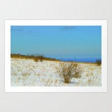 white snow Art Print