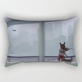 In the gray city Rectangular Pillow