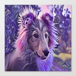 Shetland Sheepdog Puppy Canvas Print