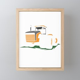 Tractor Pulling Farming Agriculture Farmers Gift Framed Mini Art Print