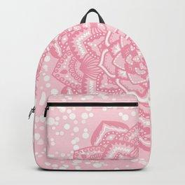 Pink mandala flower Backpack
