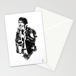 Jazz saxophone Stationery Cards