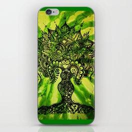 Green Tie-Dyed Goddess print iPhone Skin