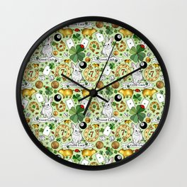 Good Luck Charms Wall Clock