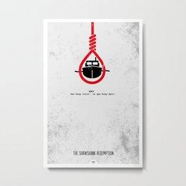 Shawshank Redemption Minimalist Metal Print