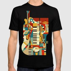 Jazz Fusion Mens Fitted Tee LARGE Black