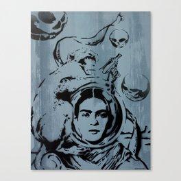 Frida Futura by MrMAHAFFEY Canvas Print