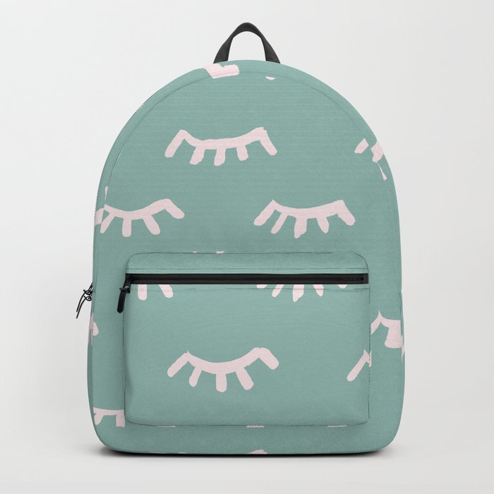 Mint Sleeping Eyes Of Wisdom - Pattern - Mix & Match With Simplicity Of Life Backpack