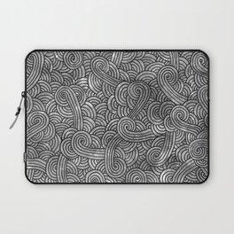 Grey and black swirls doodles Laptop Sleeve