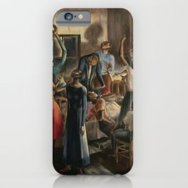 Classical African American Landscape 'Oh, Lord Jehovah, in Heaven' by Charles Alston iPhone Case