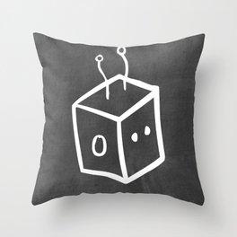 Chalkboard Wallies Throw Pillow
