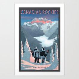 Snow Board Therapy Art Print